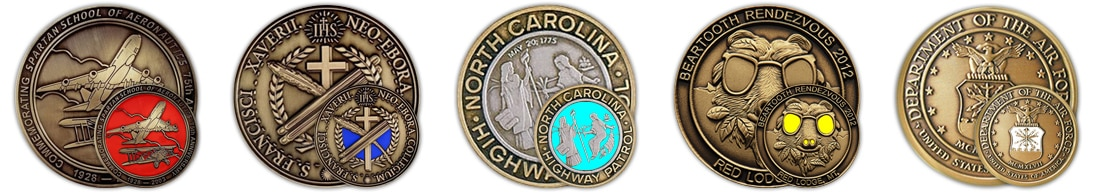 1 color - Custom Challenge Coins - Color On One Side
