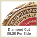 opt diamond cut - Custom Coins - Color On Both Sides