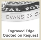 opt edge engraved - Custom Coins - Color On Both Sides