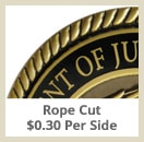 opt rope cut - Custom Coins - Color On Both Sides